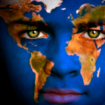 Global Health Education Initiative branding image depicting child's face with world map overlay