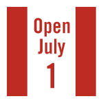 Graphic icon to represent the Canada Day holiday hours for PGME