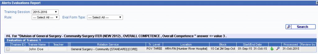 Screenshot of POWER dashboard